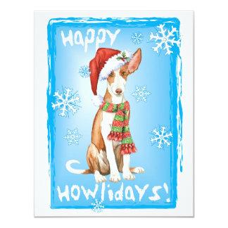 Happy Howliday Ibizan Hound Card