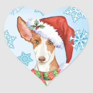 Happy Howliday Ibizan Hound Heart Sticker