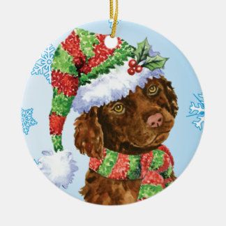 Happy Howliday Irish Water Spaniel Christmas Ornament