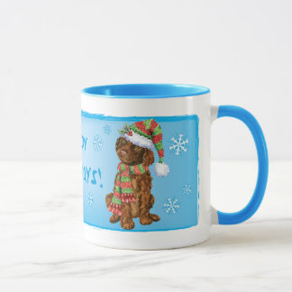 Happy Howliday Irish Water Spaniel Mug