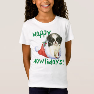 Happy Howliday Japanese Chin T-Shirt