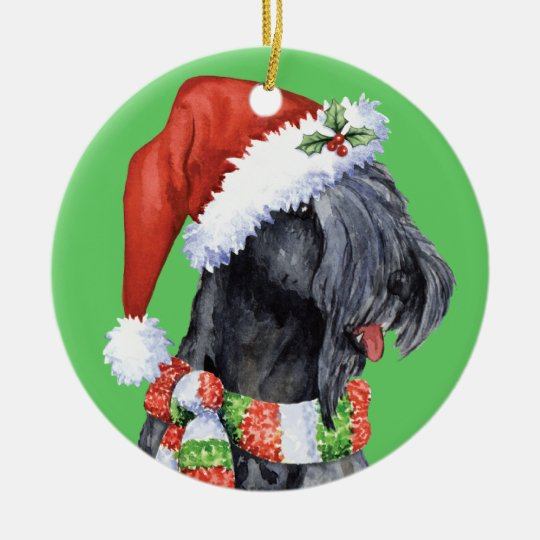 Happy Howliday Kerry Blue Terrier Christmas Ornament