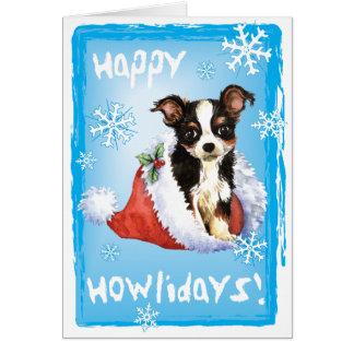 Happy Howliday Long Coat Chihuahua Card