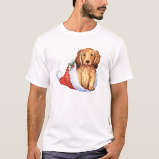 Happy Howliday Longhaired Dachshund T-Shirt