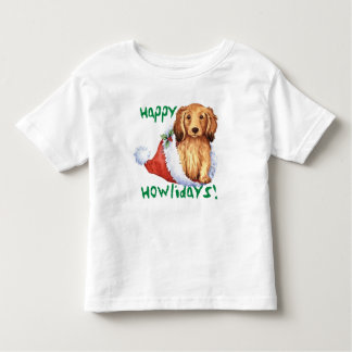 Happy Howliday Longhaired Dachshund Tees