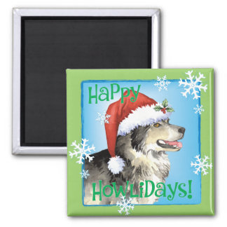 Happy Howliday Malemute Magnet