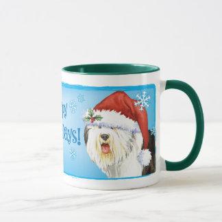Happy Howliday Old English Sheepdog