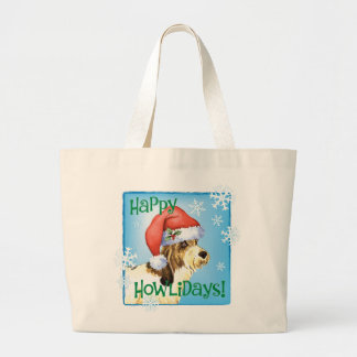 Happy Howliday PBGV Large Tote Bag