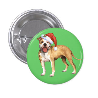 Happy Howliday Pit Bull Terrier Pin