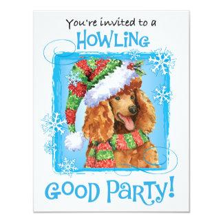 Happy Howliday Poodle 11 Cm X 14 Cm Invitation Card