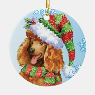 Happy Howliday Poodle Christmas Ornament