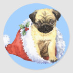 Happy Howliday Pug Sticker