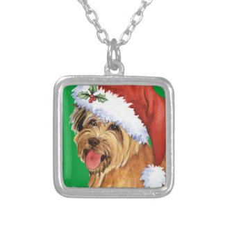 Happy Howliday Pyrenean Shepherd Silver Plated Necklace