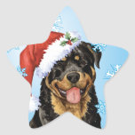 Happy Howliday Rottweiler Star Sticker