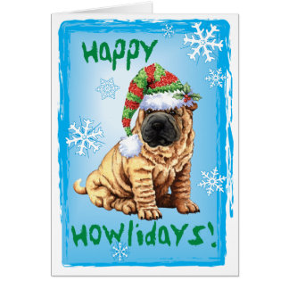 Happy Howliday Shar-Pei Card