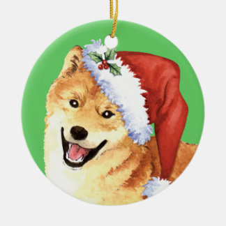 Happy Howliday Shiba Inu Christmas Ornament