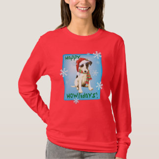 Happy Howliday Smooth Fox Terrier T-Shirt