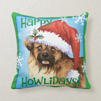 Happy Howliday Tibetan Spaniel Cushion