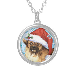 Happy Howliday Tibetan Spaniel Silver Plated Necklace