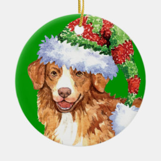 Happy Howliday Toller Christmas Ornament