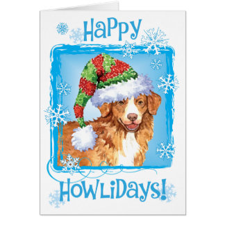 Happy Howliday Toller Greeting Card