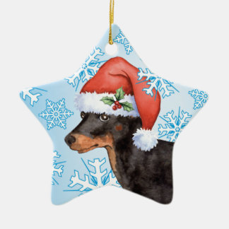 Happy Howliday Toy Manchester Terrier Ceramic Star Decoration