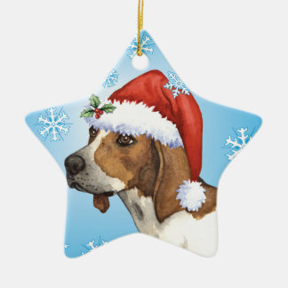 Happy Howliday Treeing Walker Christmas Ornament