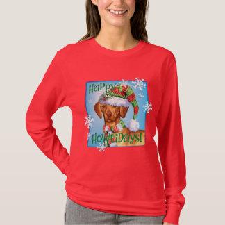 Happy Howliday Vizsla T-Shirt