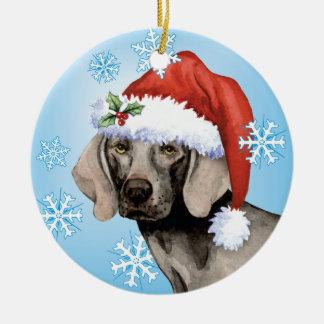 Happy Howliday Weimaraner Christmas Ornament