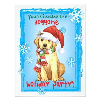 Happy Howliday Yellow Lab 11 Cm X 14 Cm Invitation Card