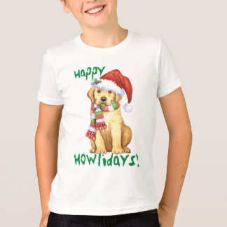 Happy Howliday Yellow Lab T-Shirt