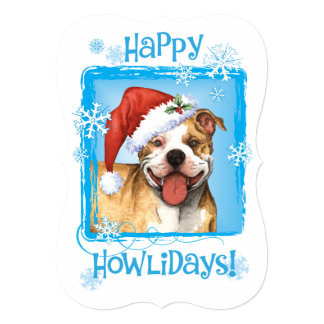 Happy Howlidays APBT 13 Cm X 18 Cm Invitation Card