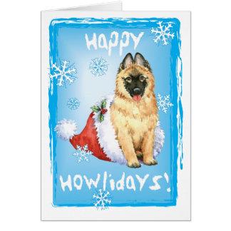 Happy Howlidays Belgian Tervuren Card
