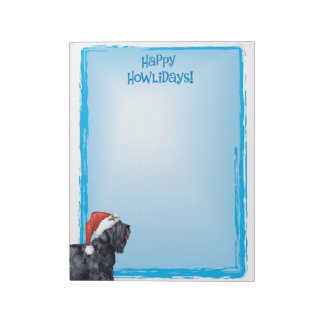Happy Howlidays Black Russian Terrier Notepad