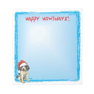 Happy Howlidays Bluetick Memo Note Pad