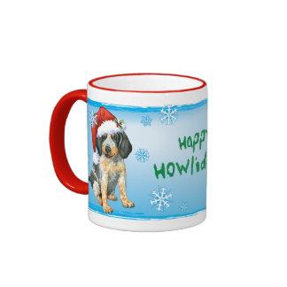 Happy Howlidays Bluetick Ringer Mug