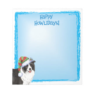 Happy Howlidays Border Collie Notepad
