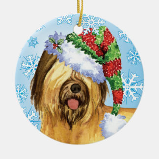 Happy Howlidays Briard Christmas Ornament