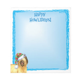 Happy Howlidays Briard Notepad