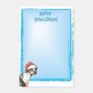 Happy Howlidays Catahoula Post-it Notes
