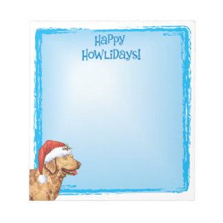 Happy Howlidays Chessie Notepad