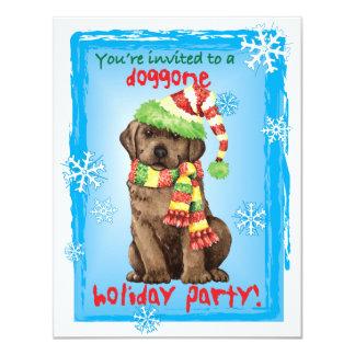 Happy Howlidays Chocolate Lab 11 Cm X 14 Cm Invitation Card