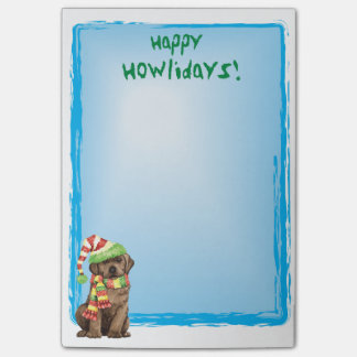 Happy Howlidays Chocolate Lab Post-it® Notes