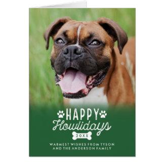 Happy Howlidays Christmas Dog Folded Photo Card