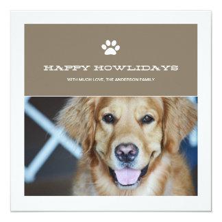 Happy Howlidays Christmas Pet Photo Flat Cards Invite