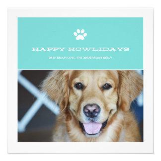 Happy Howlidays Christmas Pet Photo Flat Cards