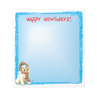 Happy Howlidays Clumber Spaniel Notepad