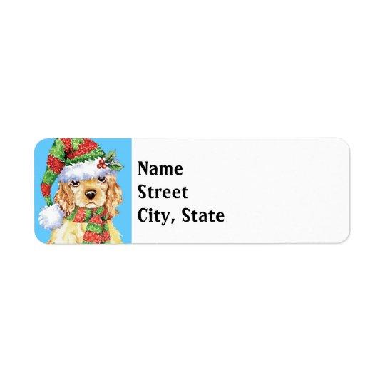 Happy Howlidays Cocker Spaniel Return Address Label