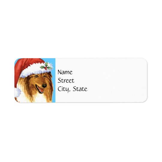 Happy Howlidays Collie Return Address Label