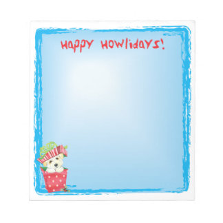 Happy Howlidays Coton Notepad